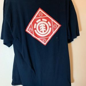 Element Shirts - Element Red and Blue T-shirt